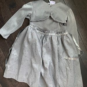 Toddler Girl Blueberi Boulevard Silver Dress